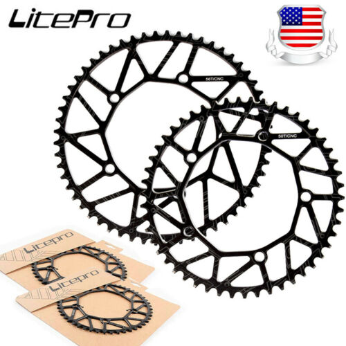 Litepro 130BCD Chainring Road Folding Bike 50-58T Narrow Wide Chainwheel Bolts