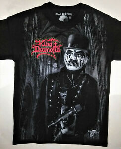 KING-DIAMOND-T-Shirt-RARE-Embroidered-Logo-Mercyful-Fate-Abigail-Judast-Priest
