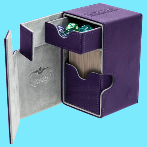 ULTIMATE GUARD FLIP n TRAY PURPLE 100 XENOSKIN DECK CASE Standard Size Card Box