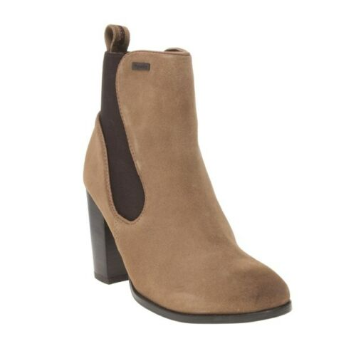 Suede Boots Pull On New Superdry Ankle Womens Tan Elasticated Fleur Heel Chelsea wgxFCY4nxq