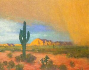 Arizona-Phoenix-Saguaro-Cactus-Desert-Rain-Landscape-Art-Oil-Painting-Southwest