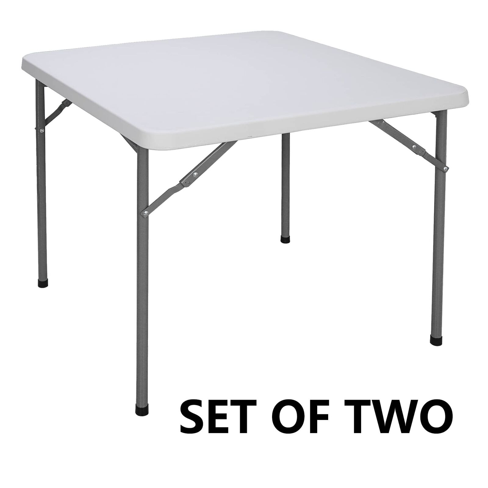 2PCS 3ft Height Adjustable Craft Camping and Utility Folding Carry Table White Furniture