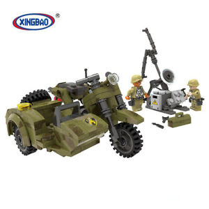 Xingbao-Bausteine-Serie-Militaerisches-MotorradToys-Montage-Spielzeug-Modell-Toys