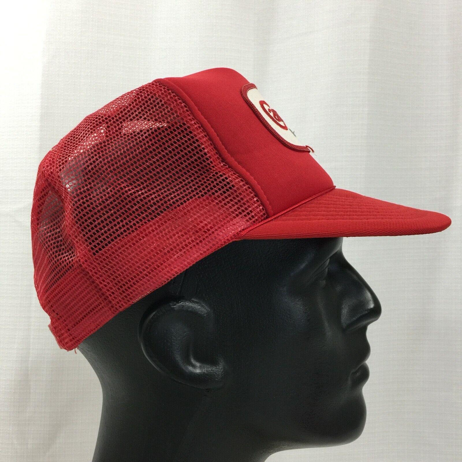 Red Carnation Dairies Snapback Trucker Hat Cap Lo… - image 6