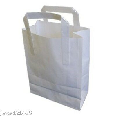 Carrier Bags White Pure Kraft Takeaway
