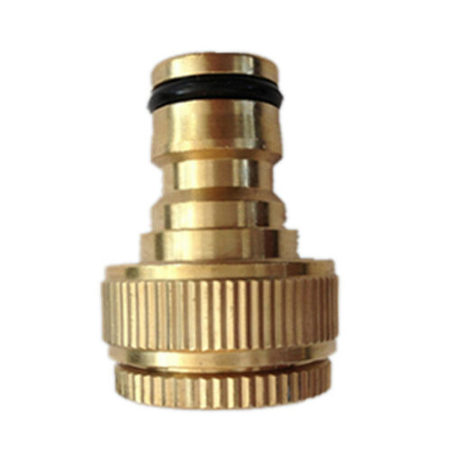 "Brass Garden Tap Hose Pipe Connector Quick Release Hosepipe Hose Lock1//2/""3//4/"" AG"