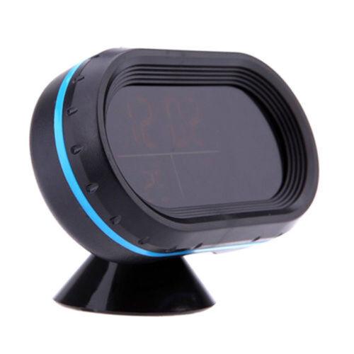 Auto LCD Digital Temperatur Thermometer Spannung Meter Monitor Uhr Alarm 12V-24V