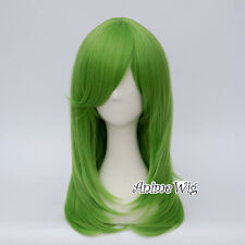 55CM Long Green Wavy Synthetic Hair Women Basic Style Party Anime Cosplay Wig