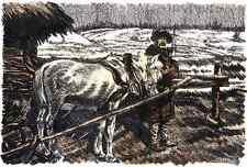 PFERD & BAUER - Alois KOLB Original Lithographie 1917