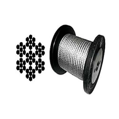"""7 x 7 Galvanized Aircraft Cable Wire Rope 3//32/"""" 2500 ft"""