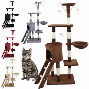 Cat-Tree-Scratching-Climbing-Post-Activity-Centre-Sisal-Bed-Toys-Scratcher-Tower