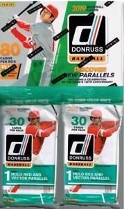 2019-Donruss-Baseball-Trading-Cards-1-BLASTER-Box-2-FAT-PACK-Retail-Combo-Set