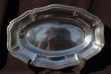 Christofle - Plat ovale en métal argenté - Filets Contours - 35cm