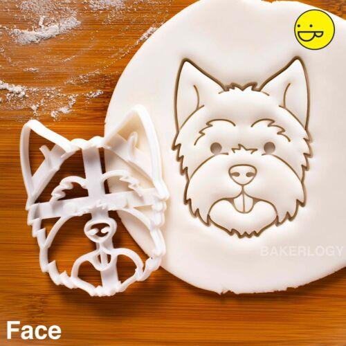 West Highland White Terrier Perro Cara Cookie Cutter-Westie Retrato Perro trata