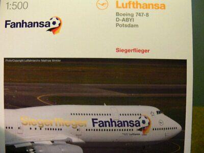1/500 Herpa Lufthansa Boeing 747-8 Vincitore Aviatori Wm 2014 Prezzo Speciale € 24,99-mostra Il Titolo Originale