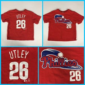 new style 5a114 34d6b Details about Toddlers CHASE UTLEY #26 Philadelphia Phillies Red  Jersey-Style TShirt - Size 4