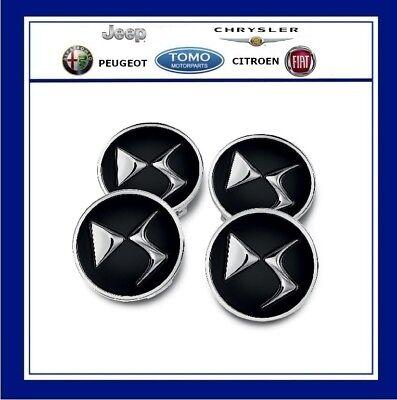 CITROEN DS3 DS4 DS5 NERO lega ruota centro CAP Set di 4 NUOVO ORIGINALE 1609953780