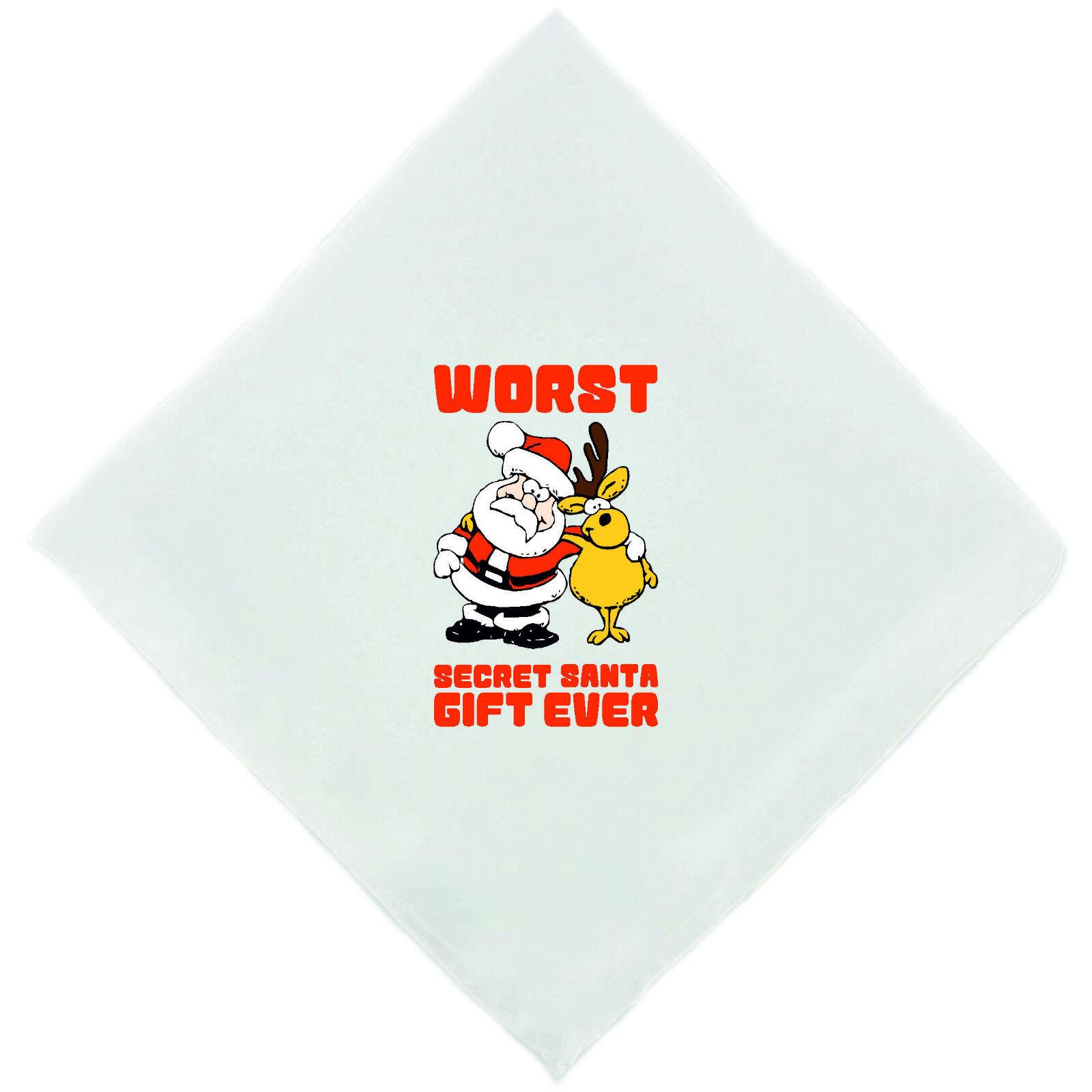 Worst Secreto Santa Regalo nunca Novedad Pañuelo Pañuelo Gracioso Cheeky Navidad
