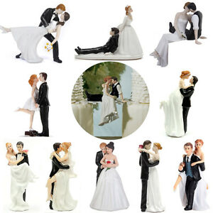 Romantic funny wedding cake topper figure bride groom couple image is loading romantic funny wedding cake topper figure bride groom junglespirit Images