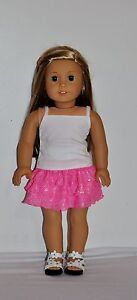 AMERICAN-MADE-DOLL-CLOTHES-FOR-18-INCH-GIRL-DOLLS-DRESS-LOT-034-PINK-GLITTER-SET-034