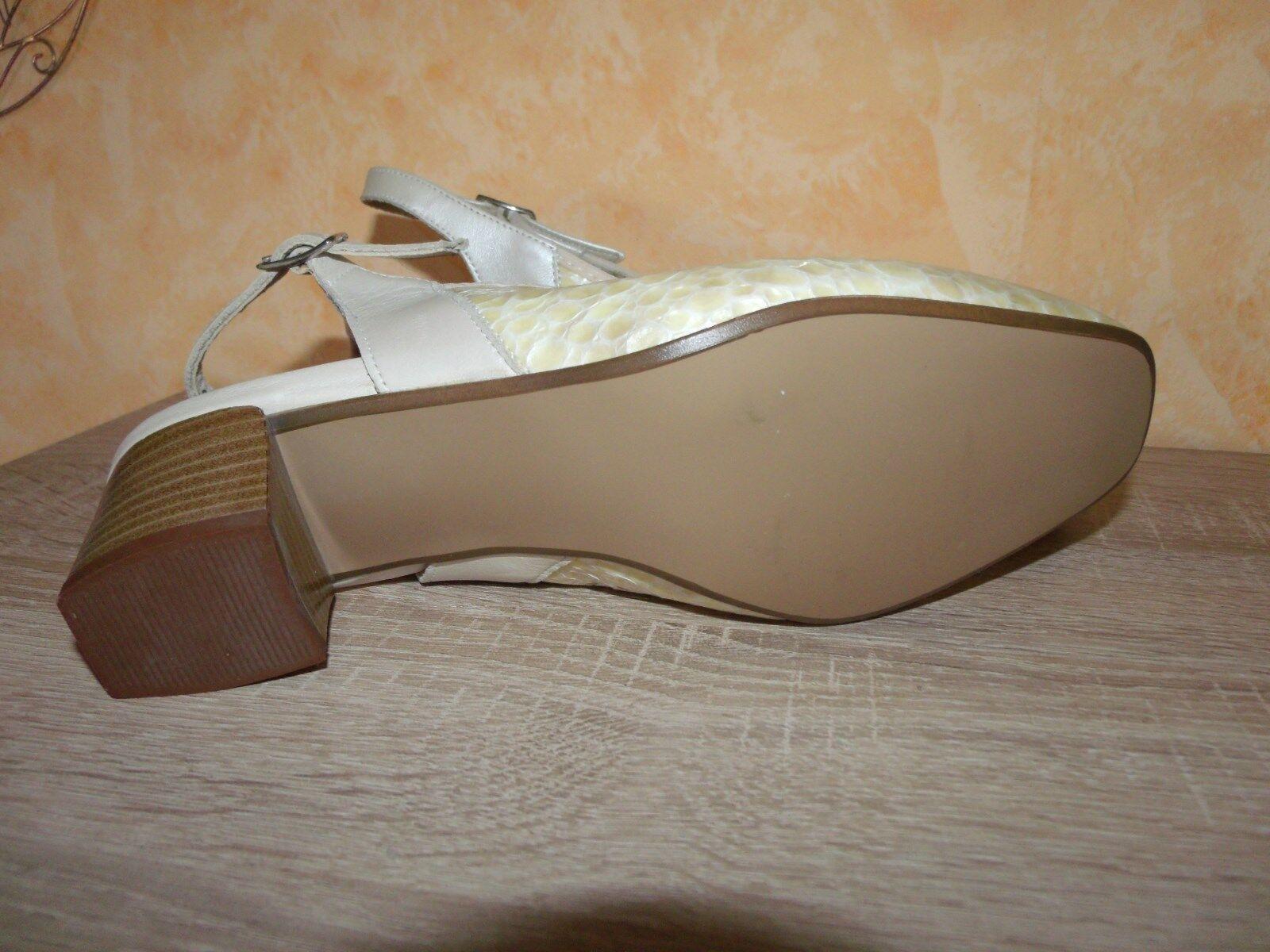 Vasana Sling Pumps NEU Gr. Gr. Gr. 4 37 Weite K in porzellan & Lack Leder 59e5fe