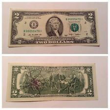 VINTAGE 2009 STAR $2 TWO DOLLAR FEDERAL RESERVE NOTE FRN NEW YORK B GREEN BILL