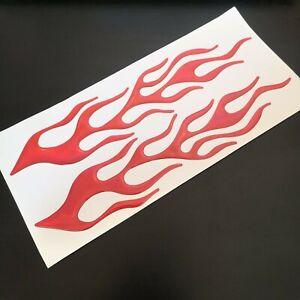 2x-Flammen-3D-Rot-Aufkleber-Sticker-Auto-Motorrad-Flamme-Feuer-Tribal-Tuning