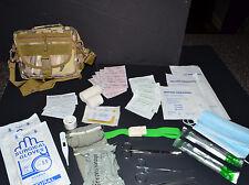 Desert Marpat 60+pc First Aid Kit Bag Pouch Trauma Field Medic IFAK Utility 2