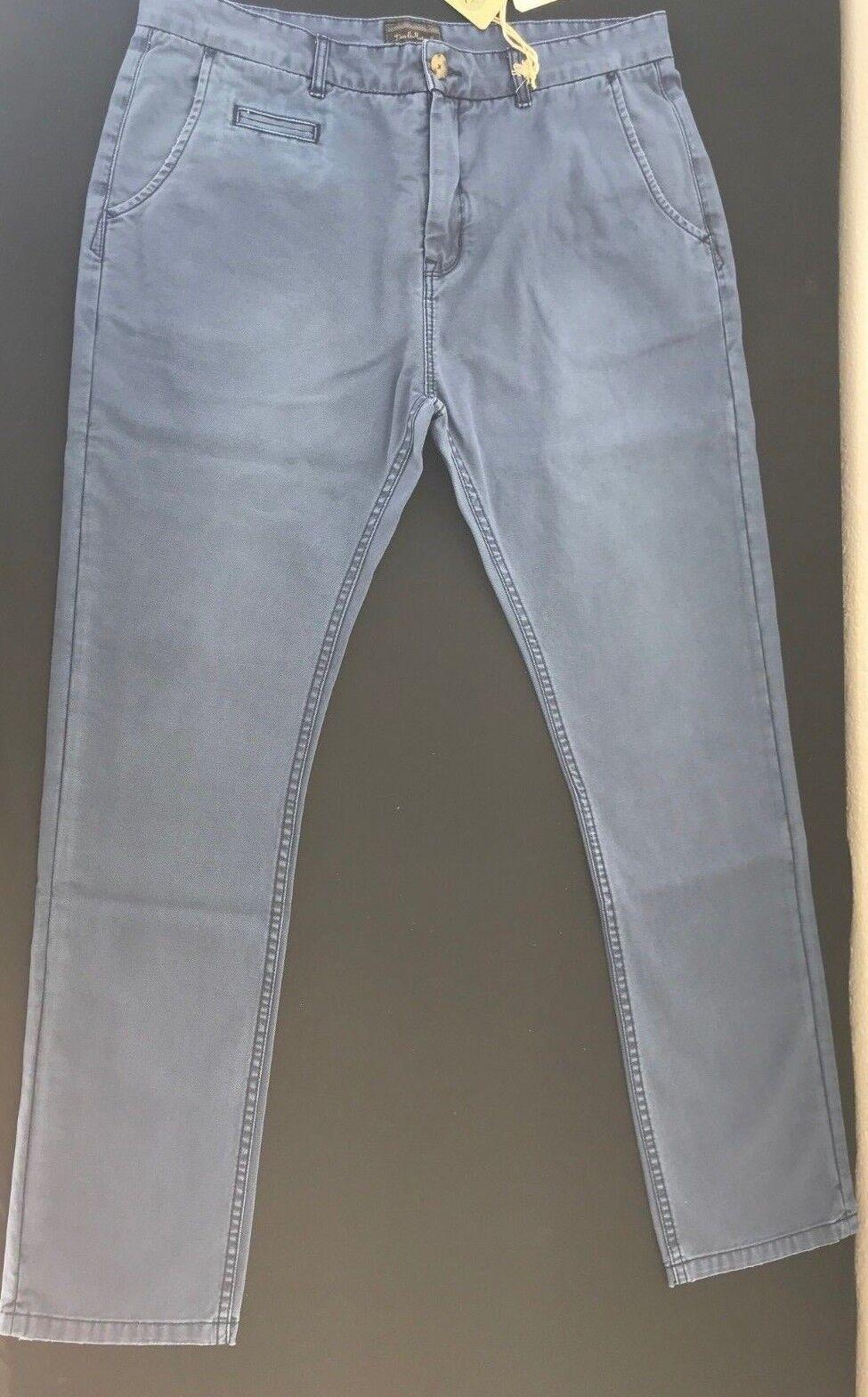 Deus Otis Pants   Vintage Garment Dye  Indigo   Men's Pants Size 34