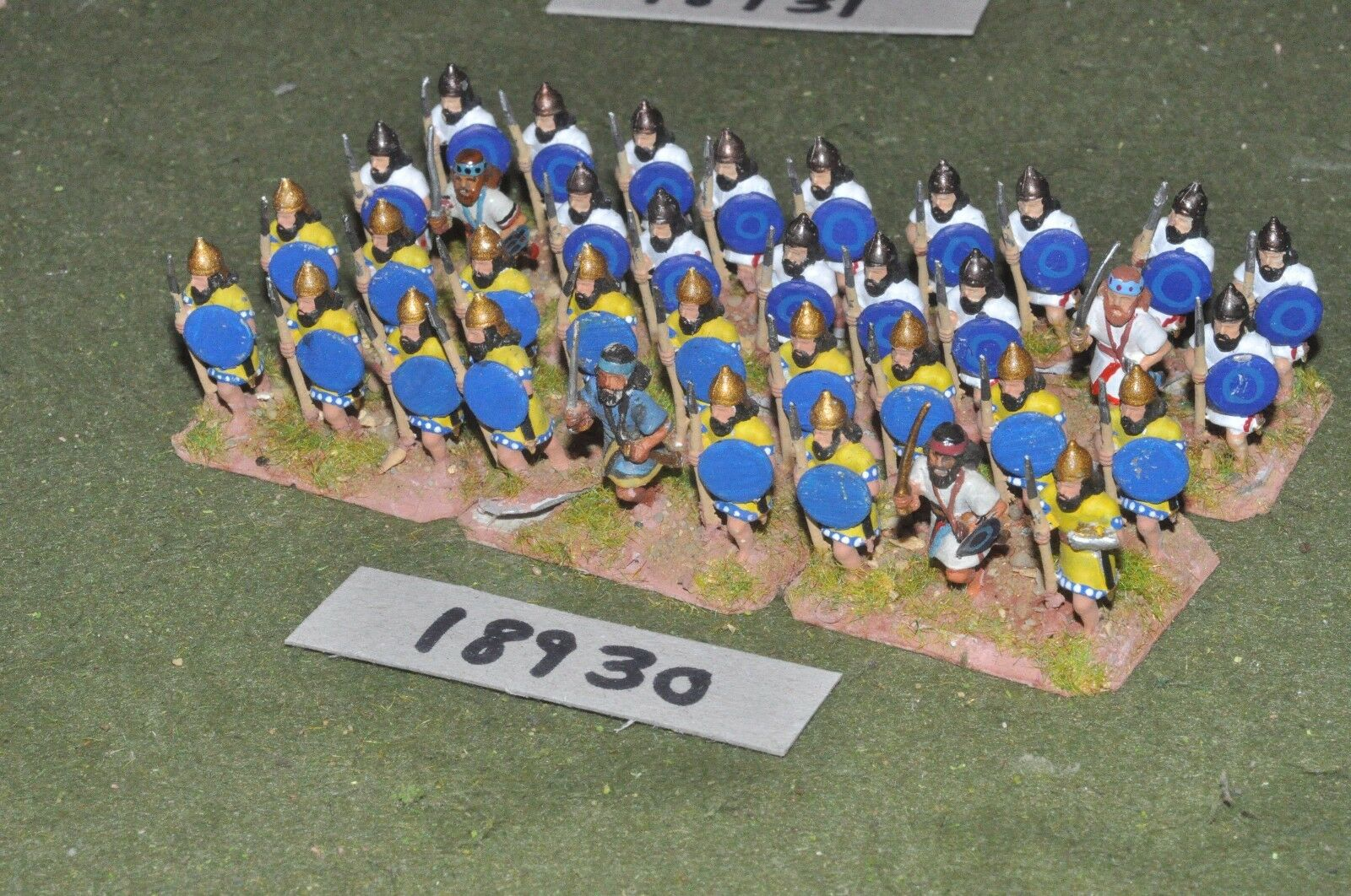 25mm biblical   assyrian - spearmen 36 figures - inf (18930)