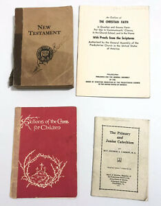 Lot-Christian-Booklets-Religious-New-Testament-Catechism-Stations-of-the-Cross