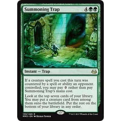 MTG MODERN MASTERS 2017 EDITION foil Summoning Trap