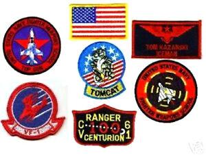 TOP GUN RON KERNER SLIDER FLIGHT SUIT PILOT 6-PATCH SET