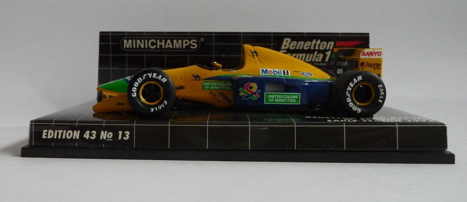Minichamps 1 1 1 43  Benetton Ford B191B M .Schumacher 1992 4d41ca