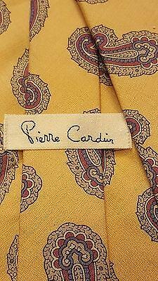"Vintage, Pierre Cardin, Silk, Yellow with Paisley Print, Neck Tie (56"")"