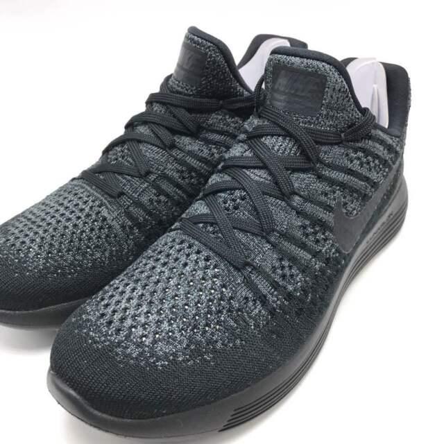 Nike Lunarepic Low Flyknit 2 Women s Running Black Black-Dark Grey  863780-004 47ddca4ba