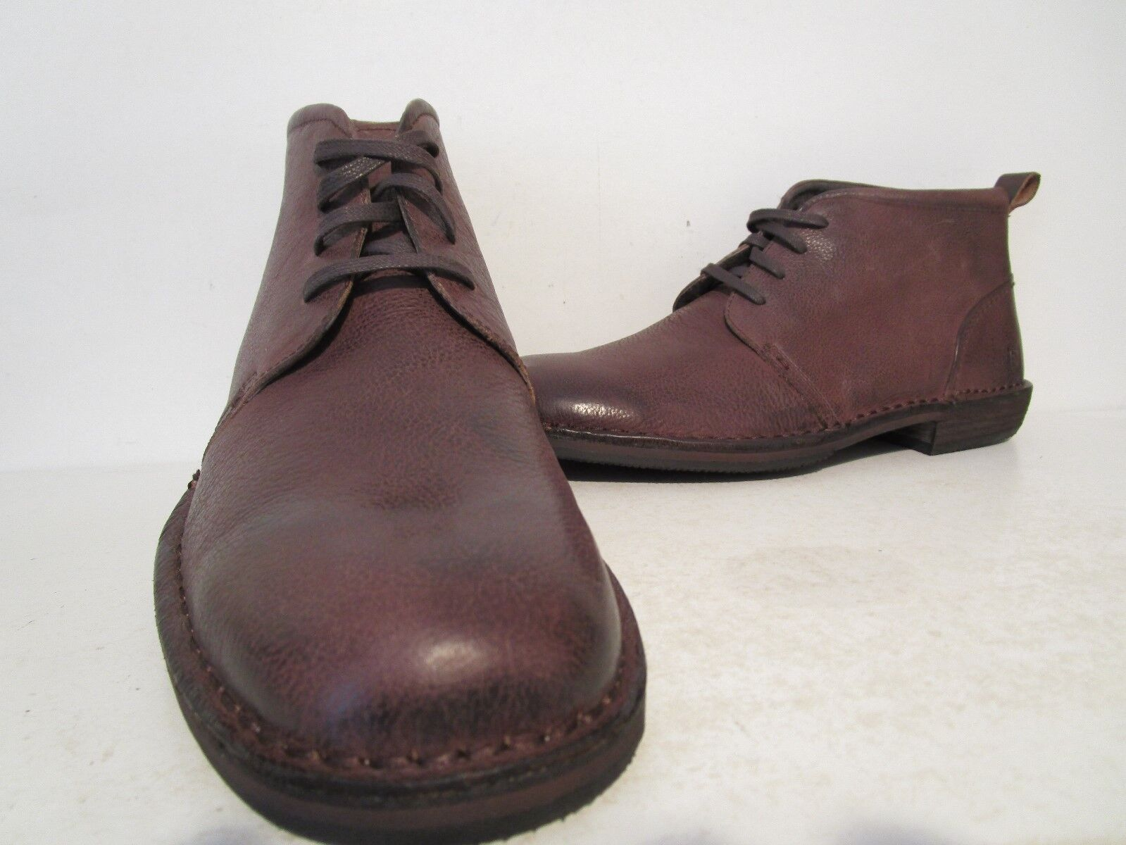 Andrew Marc Mens Greenwich Leather Chukka Boots DK Brown/Brown/Natural Size 10 D