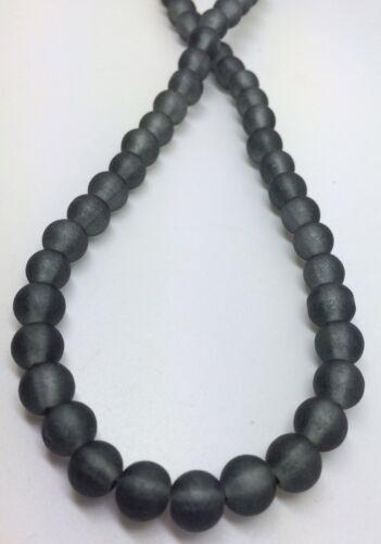 Black 8mm Glass Beads