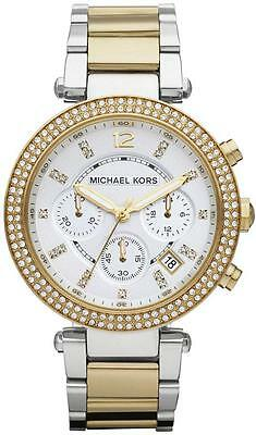 USED MICHAEL KORS MK5626 LADIES TWO TONE PARKER WATCH