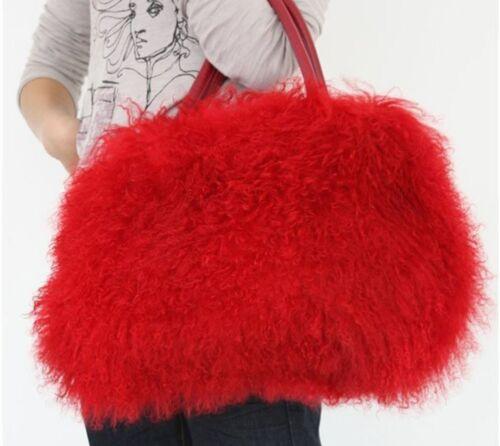 oferta varios largo piel de y piel bolso mongol colores cordero de Nuevo de grande en bolso UnxO6FC