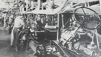"""1936 Ford  Assembly Line engine to Frame 12 X 18"""" Black & White Picture"""
