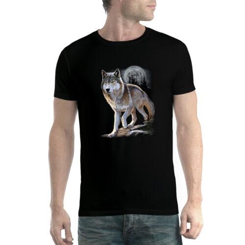 Wolf Full Moon Men T-shirt XS-5XL