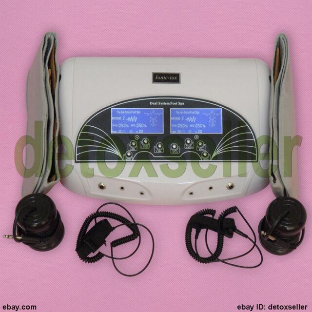 New Dual Ionic Detox Ion Foot Bath Spa LCD Cell Cleanse Health Machine Fir Belt