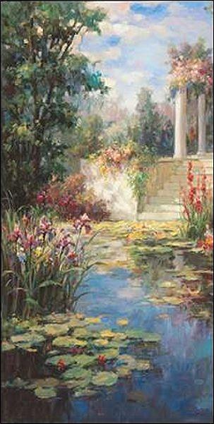 Vail Oxley  The Acqua Garden Barella-Immagine Schermo Mare Stagno Mediterraneo