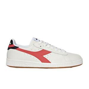 Diadora Game L Low Sneaker Uomo 501.172526 C8570 Bianco Rosso Cayenne Nero