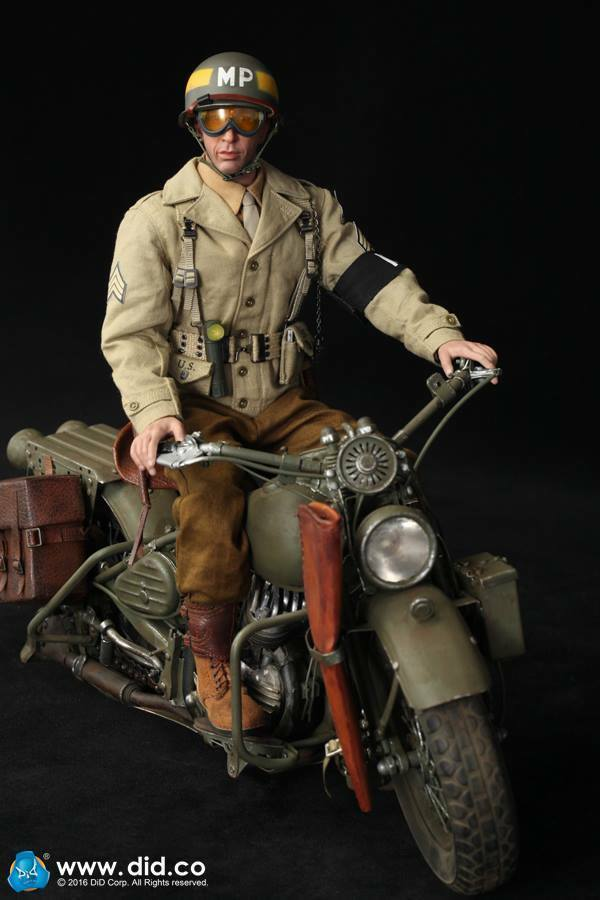 1/6 DID Action Figure WWII US 2nd ARMOrosso DIVISION POLIZIA MILITARE 80116 Bryan