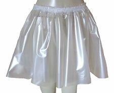 PVC Circle Skirt  Large PEARLY CLEAR  Plastic Vinyl Roleplay Sissy Adult Baby