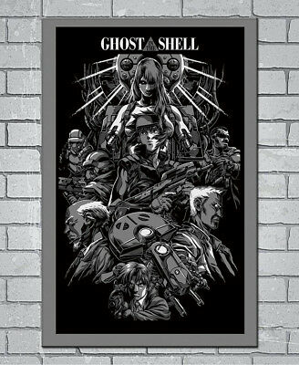 D-592 Hot Ghost In The Shell Fight Police Anime 27x40IN fabric Art Poster
