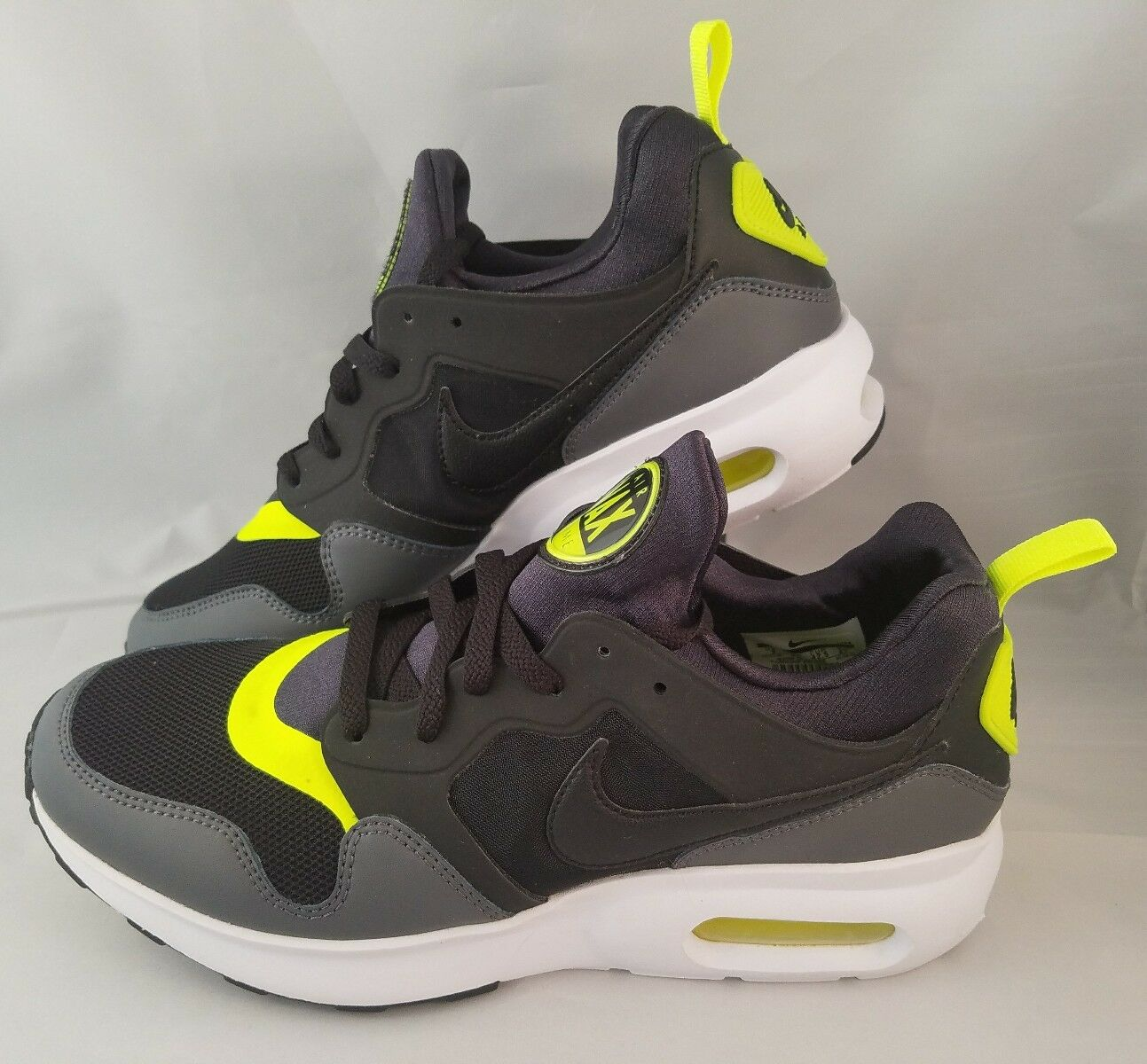 Nike Air Max Prime Running Shoes Men's Size 9 Black Gray Volt White 876068-005
