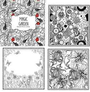 Image Is Loading ADULT COLORING BOOK MAGIC GARDEN Flowers Florals Color